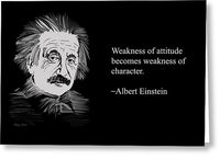Albert Einstein Quote 18 - Greeting Card