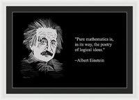 Albert Einstein Quote 19 - Framed Print