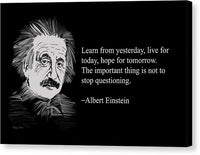 Albert Einstein Quote 2 - Canvas Print