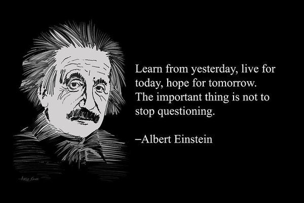 Albert Einstein Quote 2 - Art Print