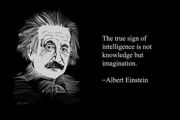 Albert Einstein Quote 6 - Art Print