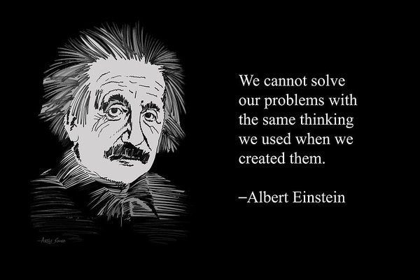 Albert Einstein Quote 7 - Art Print