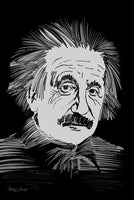 Albert Einstein Thinking Look  - Art Print