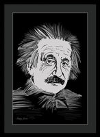 Albert Einstein Thinking Look  - Framed Print