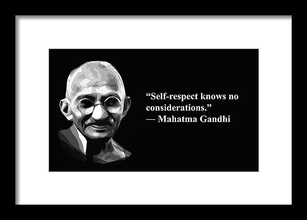 Andhi On Selrespect  - Framed Print