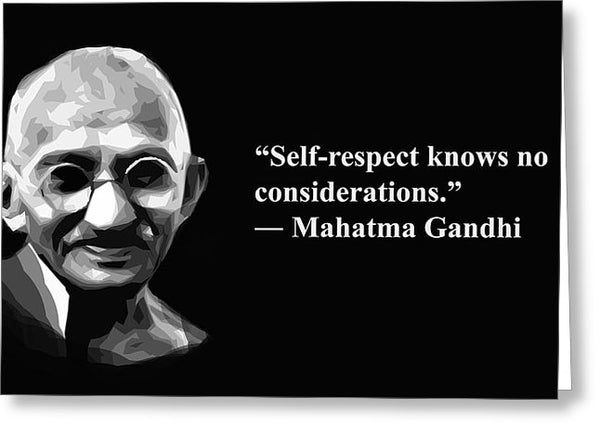 Andhi On Selrespect  - Greeting Card