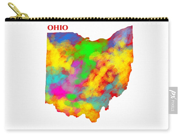 Ohio, Usa, Map, Artist Singh, - Carry-All Pouch
