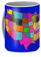 Citizenship, Us Map, Blue, Artist Singh - Mug