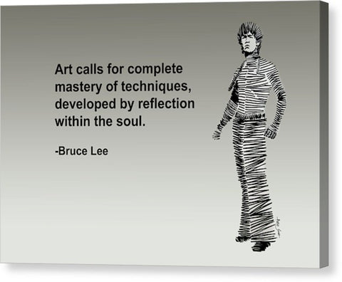 Bruce Lee On Art  - Canvas Print