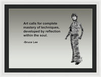 Bruce Lee On Art  - Framed Print