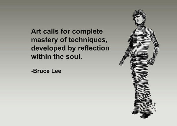 Bruce Lee On Art  - Art Print