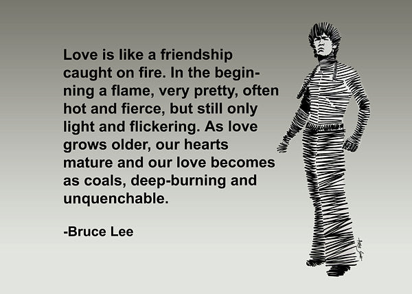 Bruce Lee On Love  - Art Print