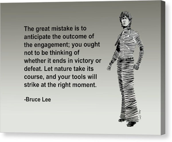 Bruce Lee On Mistake - Canvas Print