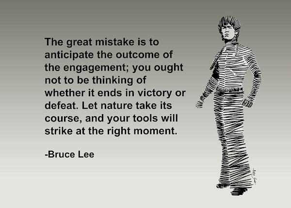 Bruce Lee On Mistake - Art Print