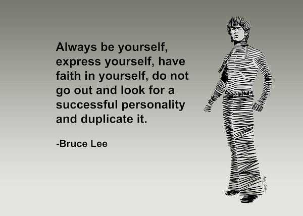 Bruce Lee On Self Expression - Art Print