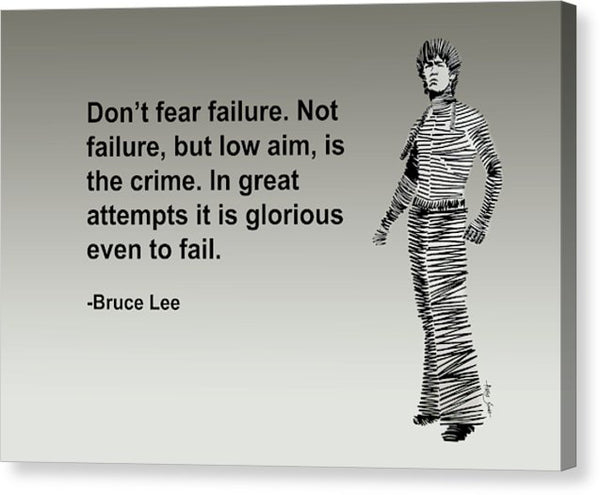 Brucelee On Failure - Canvas Print