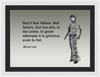 Brucelee On Failure - Framed Print