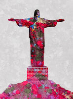 Christ The Redeemer, Water Color, Artist Singh - Art Print