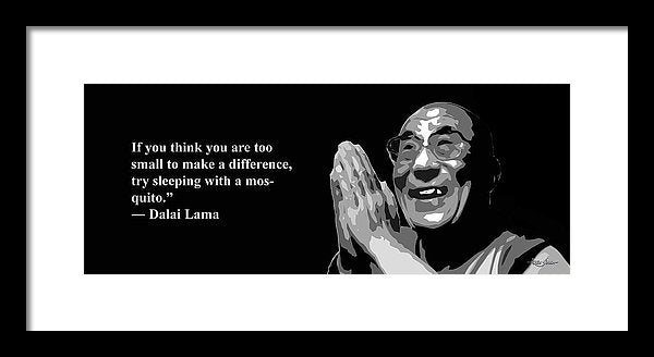 Dalai Lama On A Fact  - Framed Print