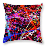 Drip Art 2000 , Artist Singh - Throw Pillow