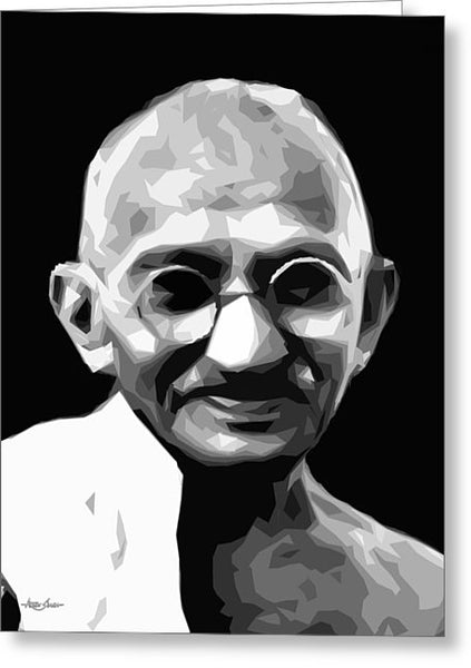 Gandhi  - Greeting Card