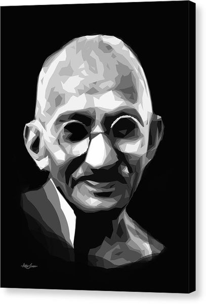 Gandhi By Artist Singh1 - Canvas Print