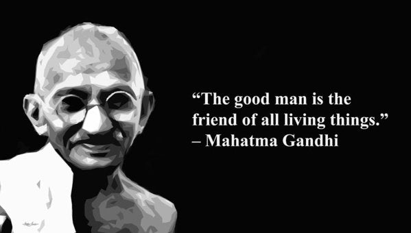 Gandhi On Friendship  - Art Print