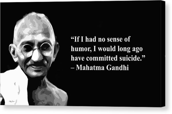 gandhi on Humor - Canvas Print