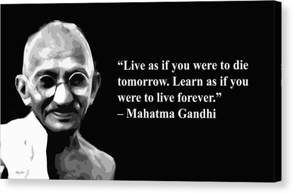 Gandhi On Learning - Canvas Print