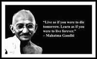 Gandhi On Learning - Framed Print