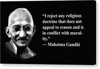 Gandhi On Morality  - Canvas Print