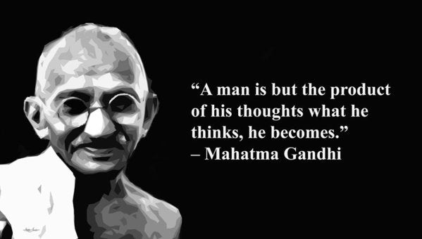 Gandhi On Thought - Art Print