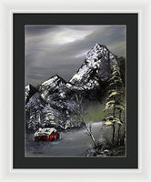 Glory Of Winter 7882, Artist Singh, 16x20,  Oil On Canvas - Framed Print