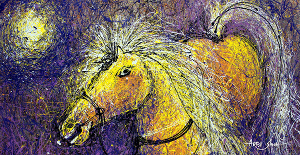 Horse drip painting