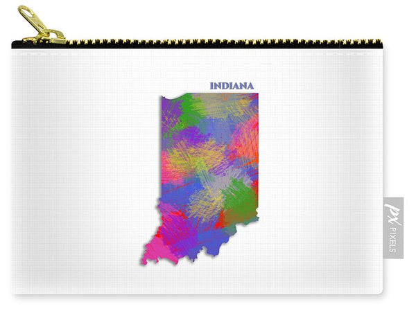 Indiana, Usa, Map, Artist Singh - Carry-All Pouch