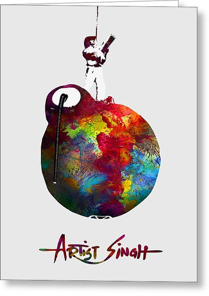 International Peace Bomb, Artprize 2009, Artist Singh, Poster - Greeting Card