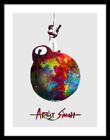 International Peace Bomb, Artprize 2009, Artist Singh, Poster - Framed Print