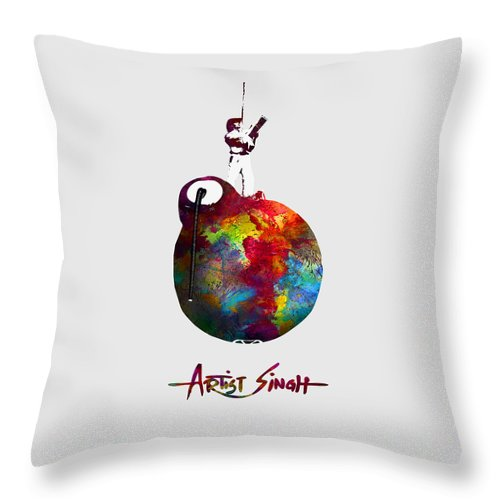 International Peace Bomb, Artprize 2009, Artist Singh, Poster - Throw Pillow