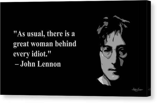 John Lennon On Woman  - Canvas Print