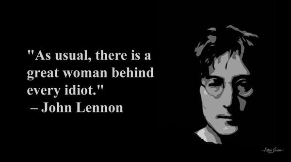 John Lennon On Woman  - Art Print