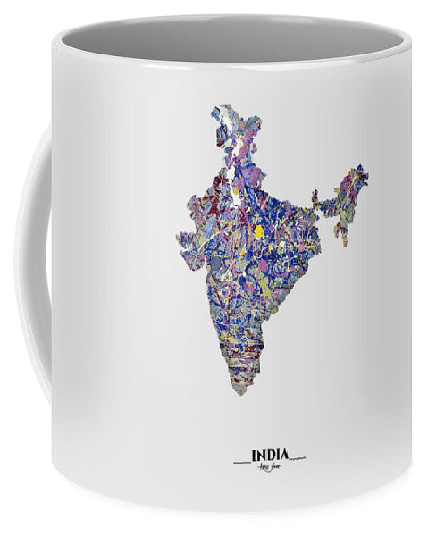 Map Of India, Drip Art, Artist Singh - Mug