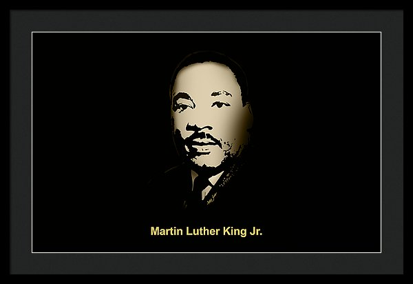 Martin Luther King Jr.  - Framed Print