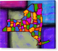New York, Areal View, Painting By Artist Singh - Canvas Print