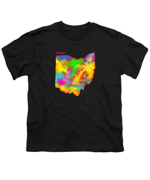 Ohio, Map, Artist Singh - Youth T-Shirt