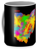 Ohio, Map, Artist Singh - Mug