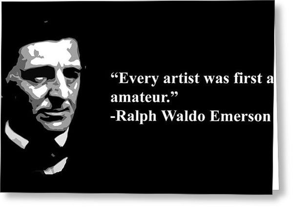 Ralph Waldo Emerson - Greeting Card