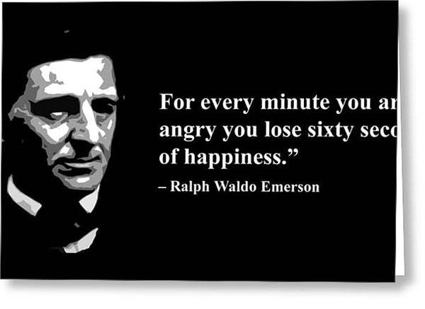 Ralph Waldo Emerson Qoute - Greeting Card