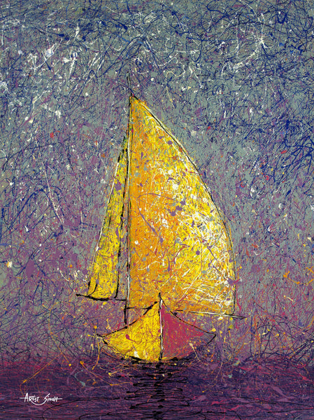 sailing in the blue by Artist Singh