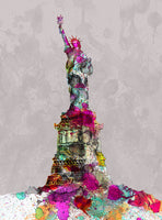 Statue Of Liberty Love, Monument, Water Color, Artist Singh - Art Print
