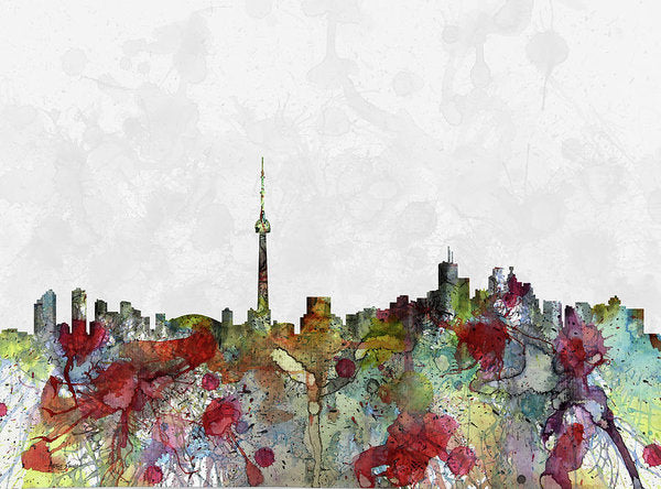 Toronto, Canada, Water Color, City Scape, Artist Singh - Art Print